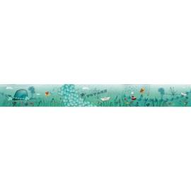Lisière velours 100 x 12 cm - Océan