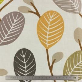 Tissus enduit - Leaves -...