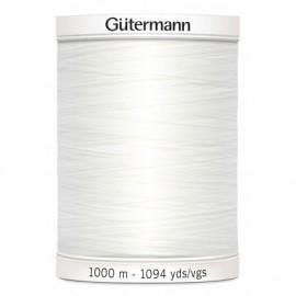 Fil polyester Gütermann 1000 m - Blanc (Col.800)
