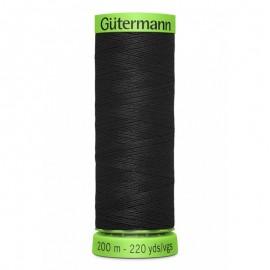 Fil Extra Fin polyester Gütermann 200 m - Noir (Col.000)