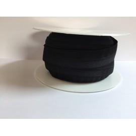 Bordure élastique de lingerie à cheval 19mm - noir - par 1 m