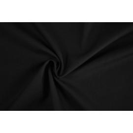 Popeline de Coton - Uni noir - par 10 cm