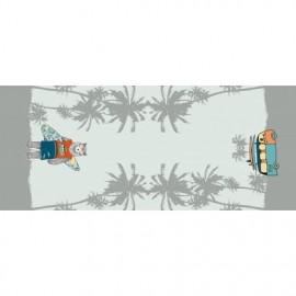 Panneau jersey 70 x 150 cm Stenzo Ours surfeur
