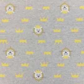Tissu sweat kiyohara lion 83cm gris