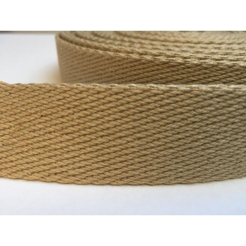 Sangle coton épaisse - sable