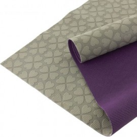 Coupon tissu antiglisse ALB Keep Me Violet Gris