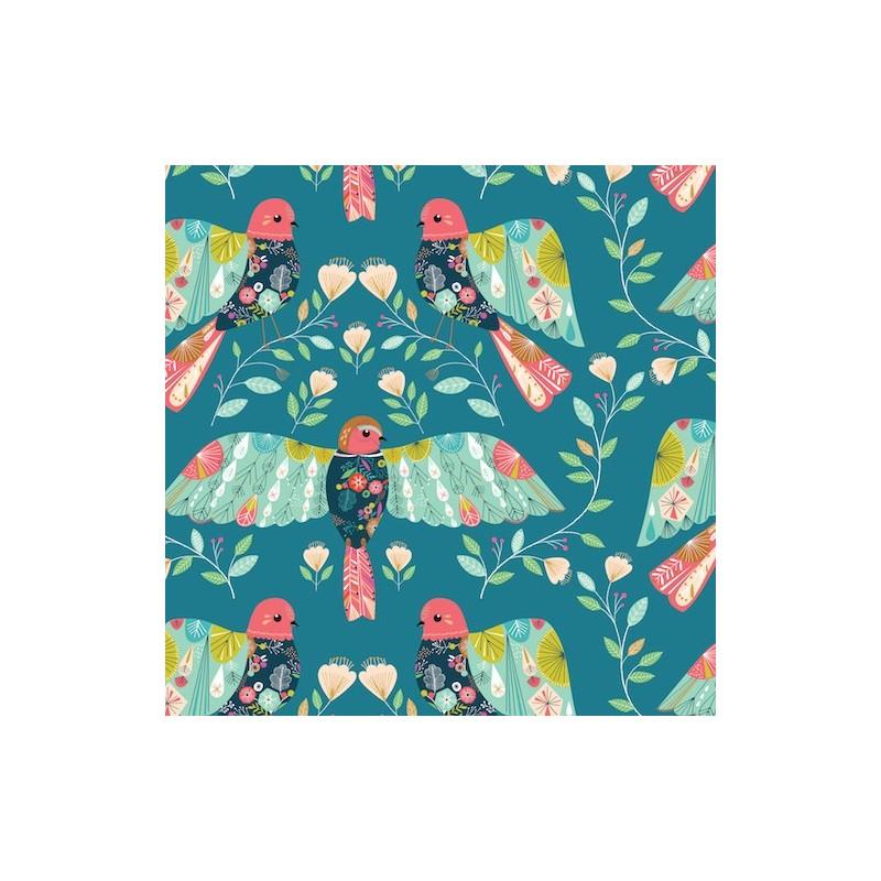Tissu coton - Collection flock - Oiseau