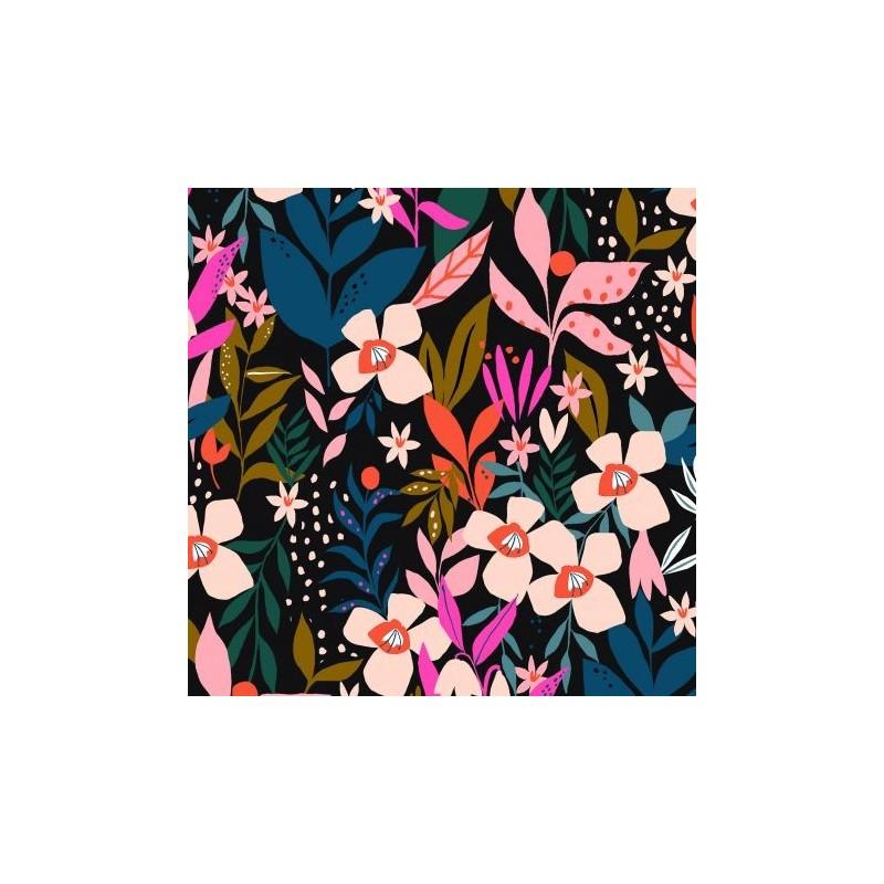 Tissu coton - Collection soirée - Jardin secret