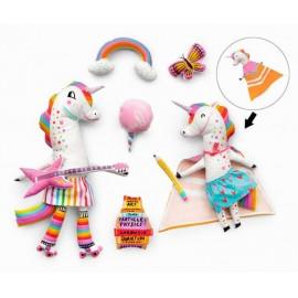Panneau Licornes et accessoires à coudre - Robert Kaufman