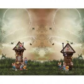 Panneau Jersey les souris dans leur maison botte - 120 x 150 cm
