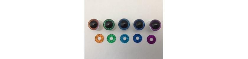 Yeux 18 mm pailletés